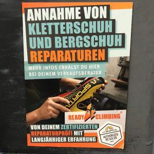 Reparatur Kletterschuhe