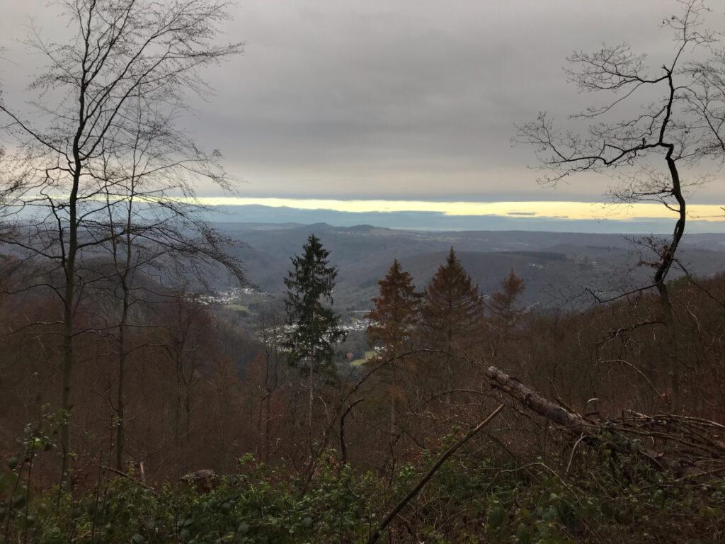 Morgendliches Laufen im Ahrtal, Ausblick Schrock, Homestory Heike