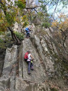 Klettersteig Boppard mit Kindern, Homestory Heike