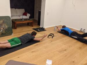Fitnesstraining Einweihung Fitnessraum, Homestory Claudia