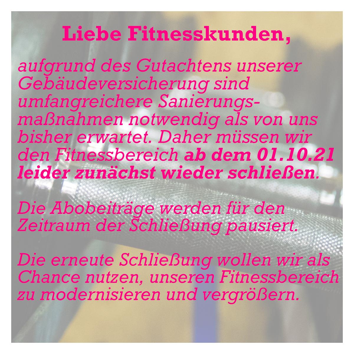 Fitness Sportpoint Meckenheim Sanierung
